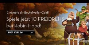 10 gratis Drehs am neuen Slot Robin Hood