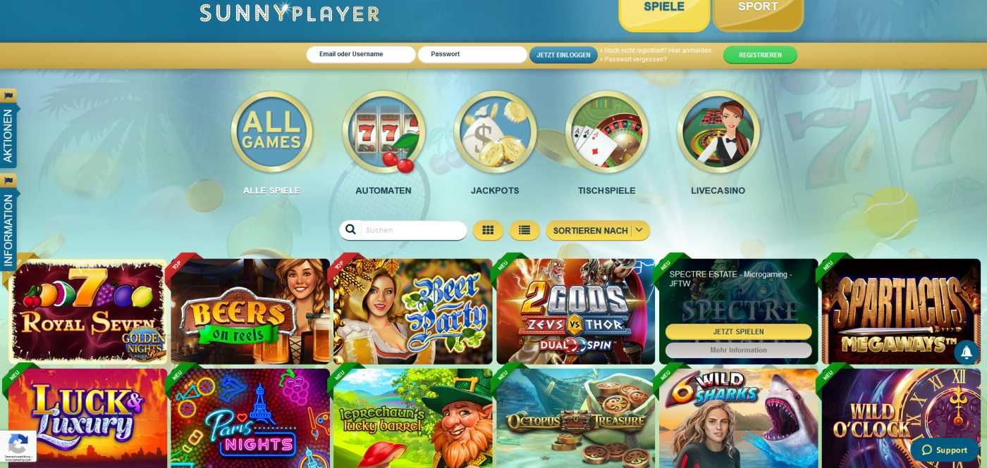 Sunnyplayer kostenlos spielen