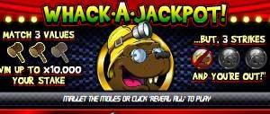Whack a Jackpot online