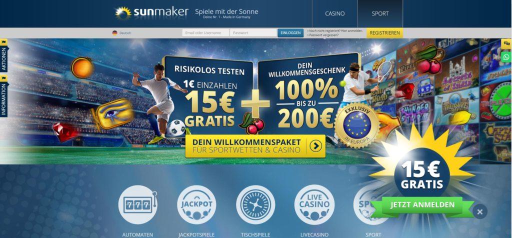 Sunmaker 15€ Gratis
