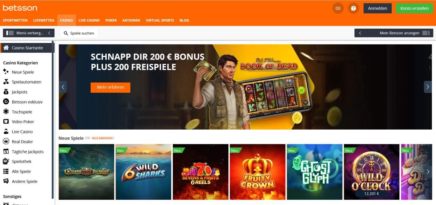 betsson Startseite Casino