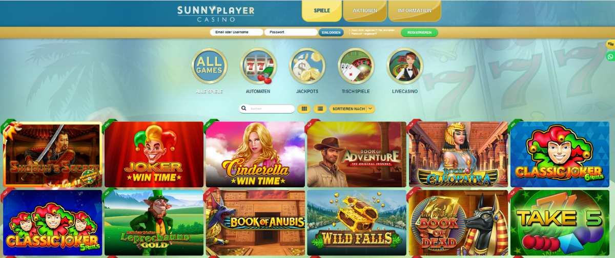 sunnyplayer spiele