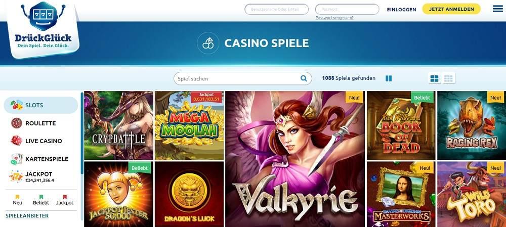 DrückGlück Spielgeld Casino