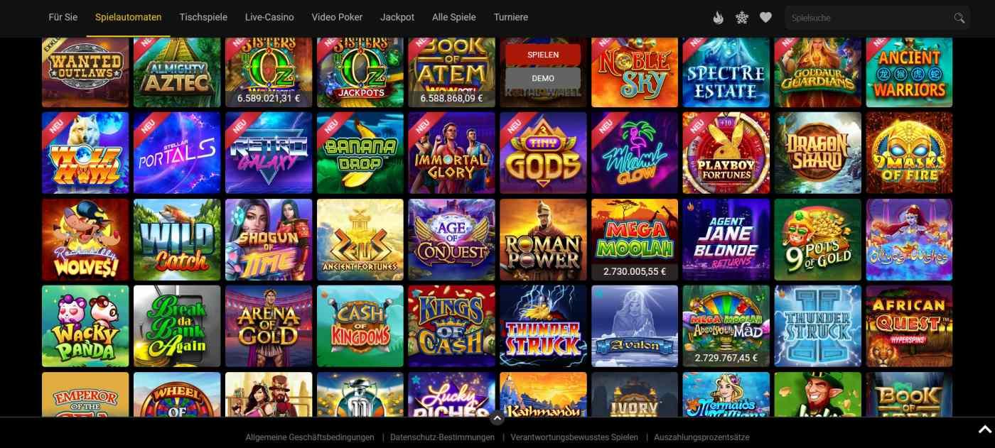 Royal Vegas Casino Spiele