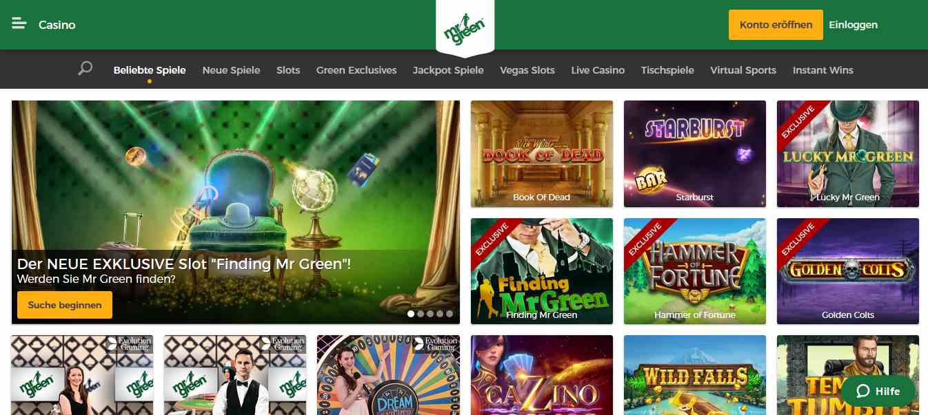 mr. green casino spiele
