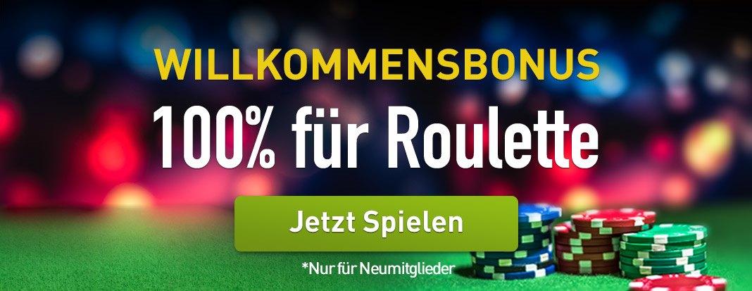CasinoClub Willkommenbonus Roulette