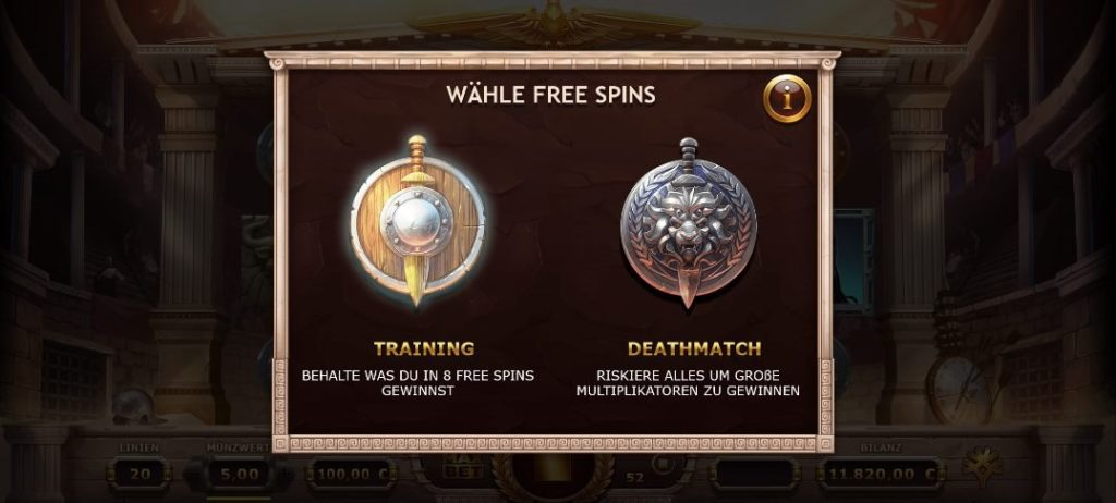 Champions of rome freespins