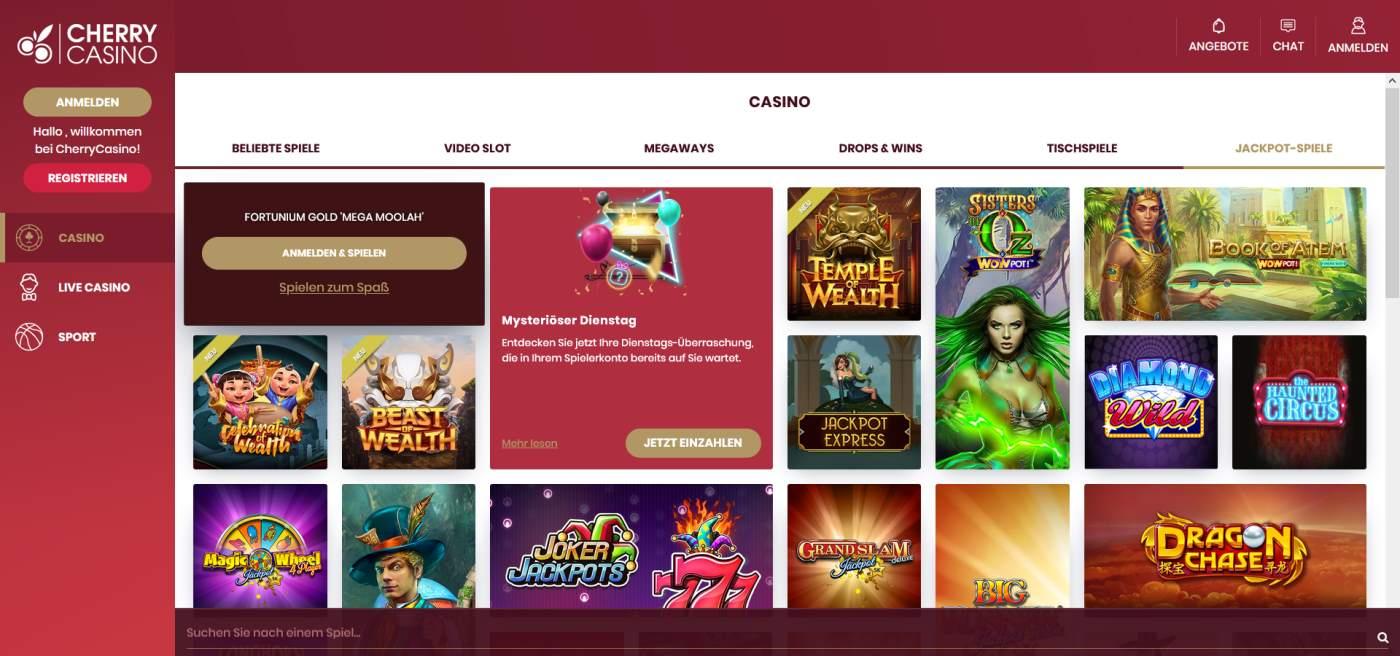 Cherry Casino Spielangebot