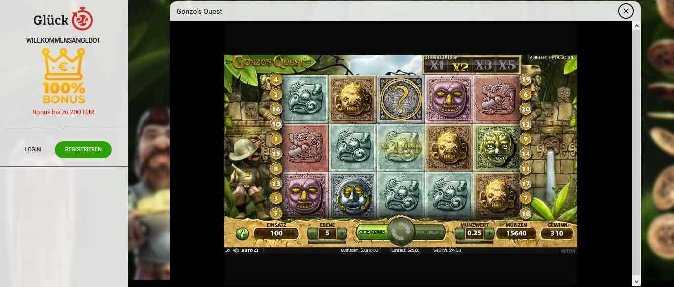 Glück24 Casino Demo Gonzos Quest