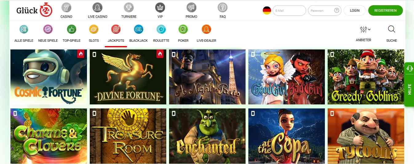 Glück24 Casino Jackpot