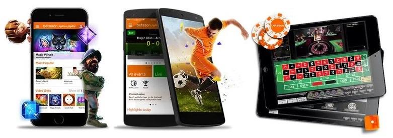 betsson casino mobil features