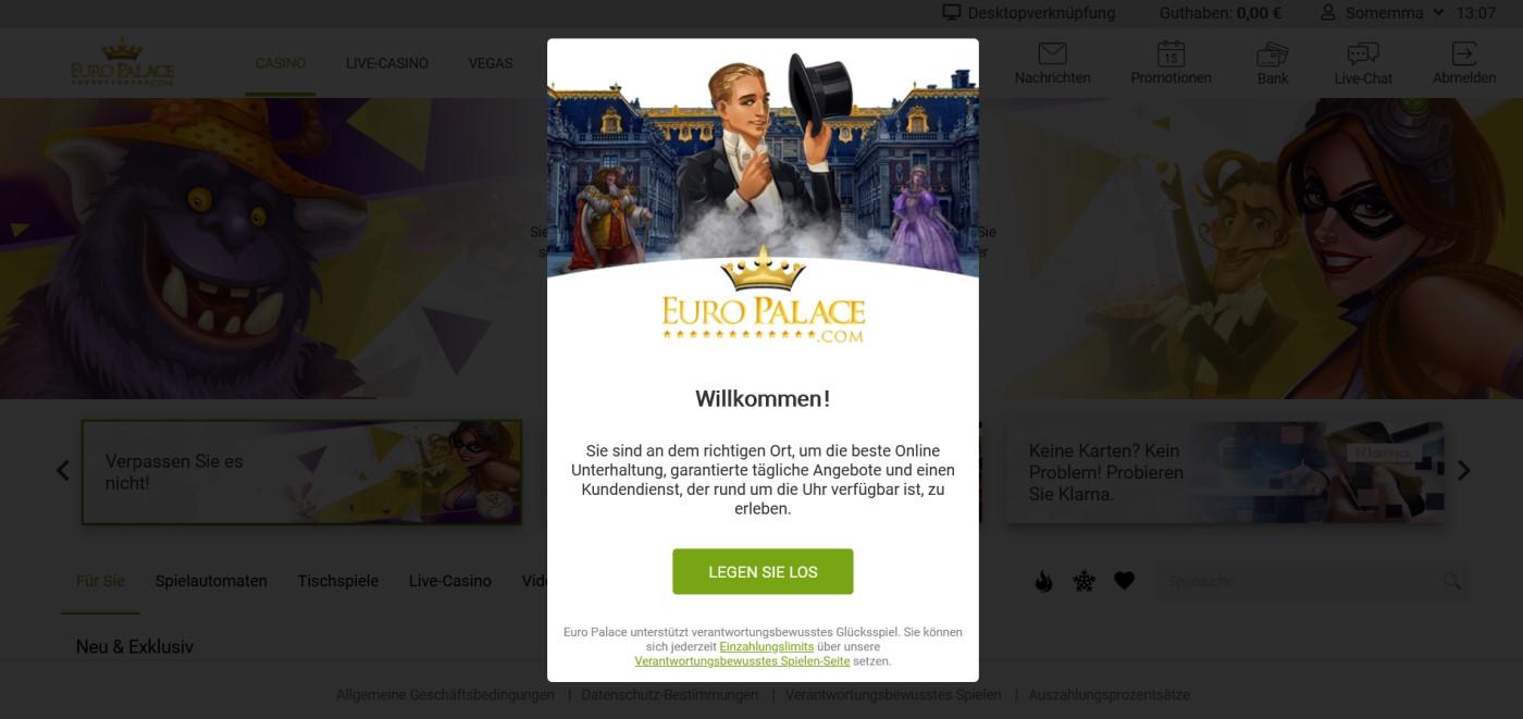 euro palace casino anmeldung