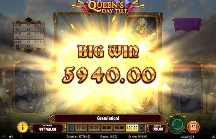 queens day tilt big win