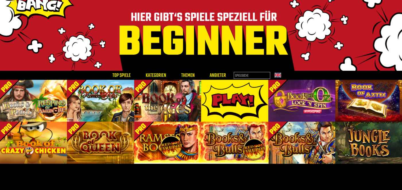 Boom Bang Spielauswahl