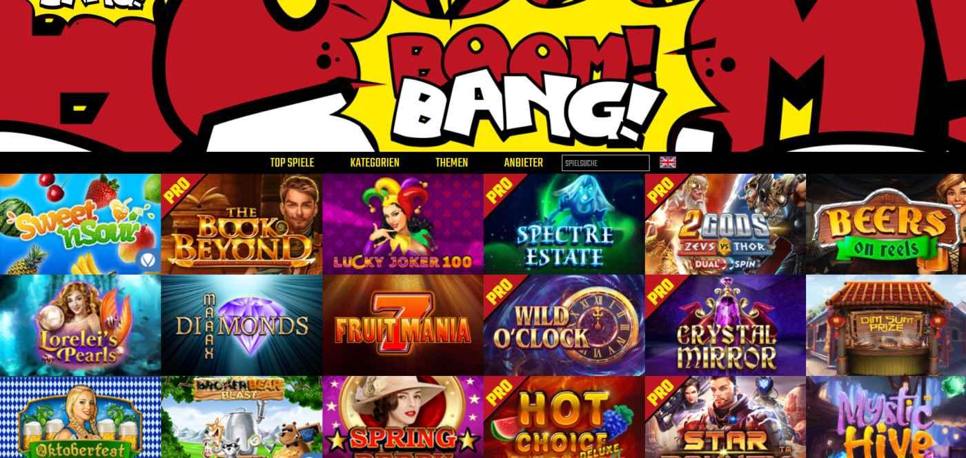 BoomBang Spiele fuer Beginner