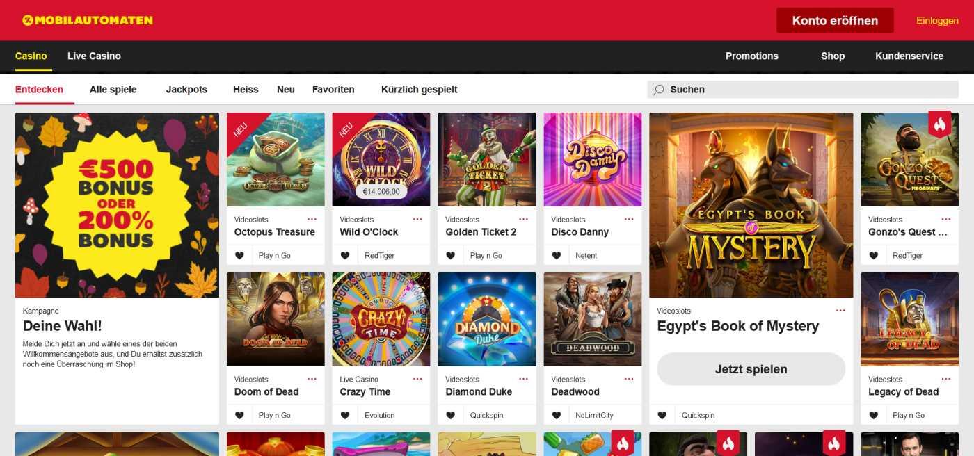 Mobilautomaten Casino Online 1