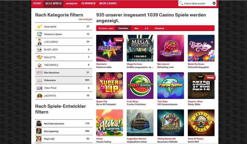 Mobilautomaten Casinospiele