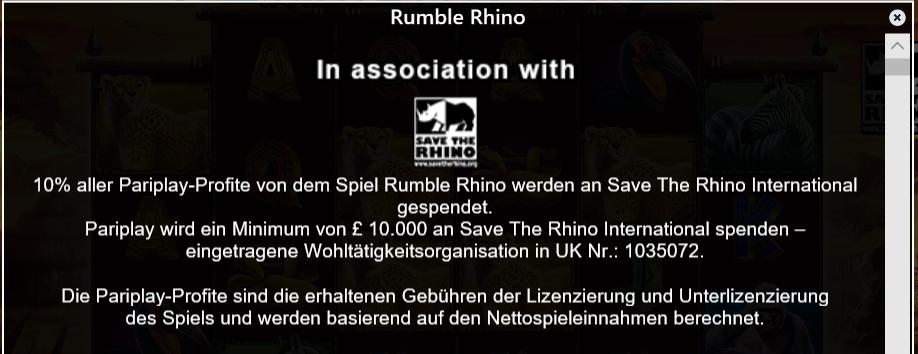 Rumble Rhino Spenden