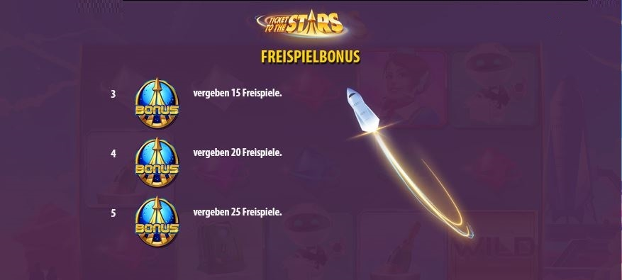 ticket to the stars freispielbonus