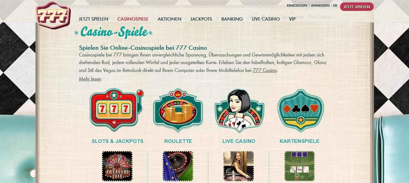 777 Casino Spiele