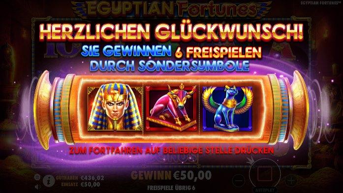 Egyptian-Fortunes Bonus