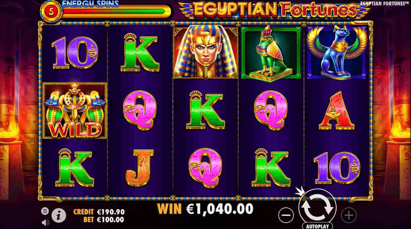 Egyptian Fortunes Energy Spin