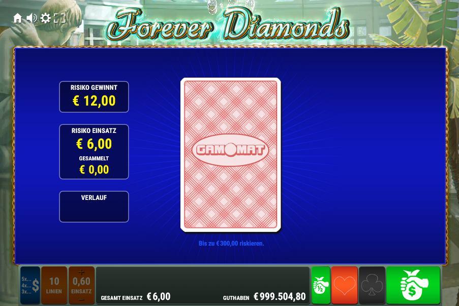 Forever Diamonds Kartenrisiko