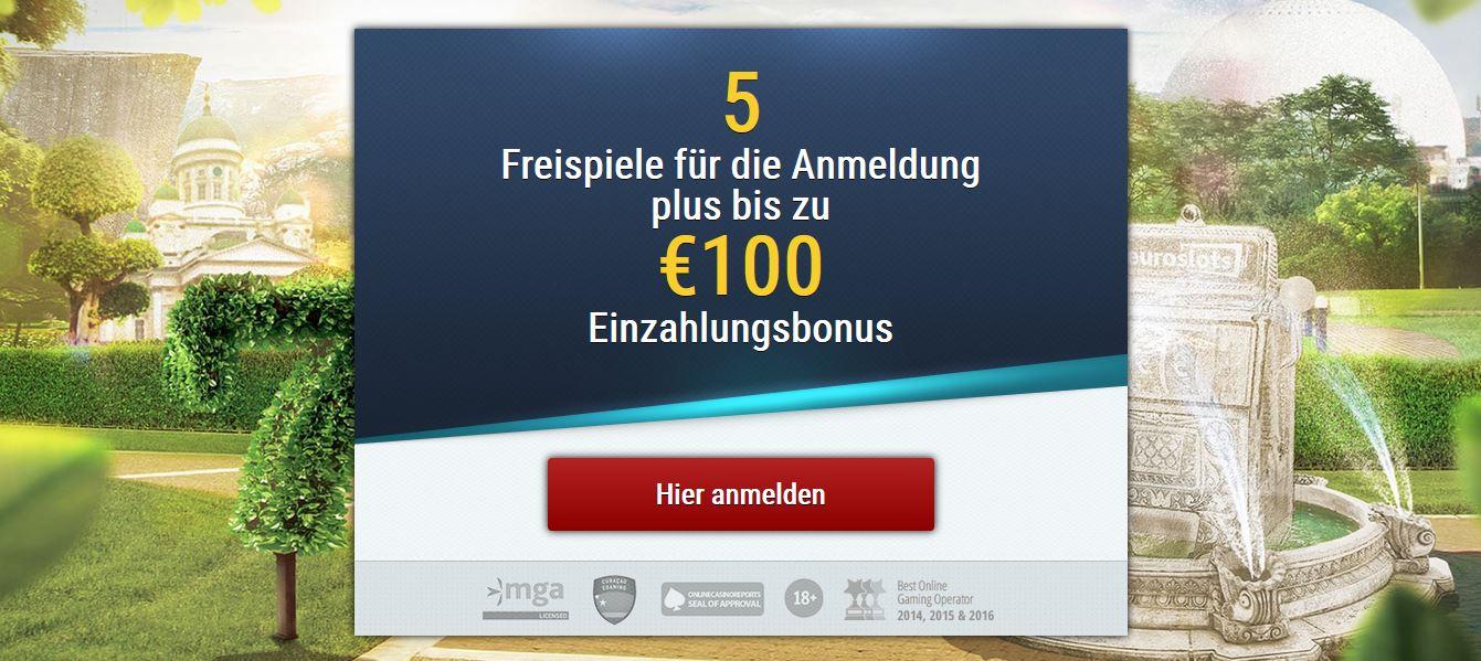 euroslots willkommensbonus