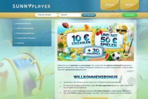 sunnyplayer bonus 50 EUR