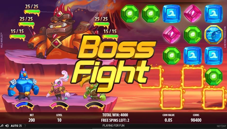 wild worlds boss fight