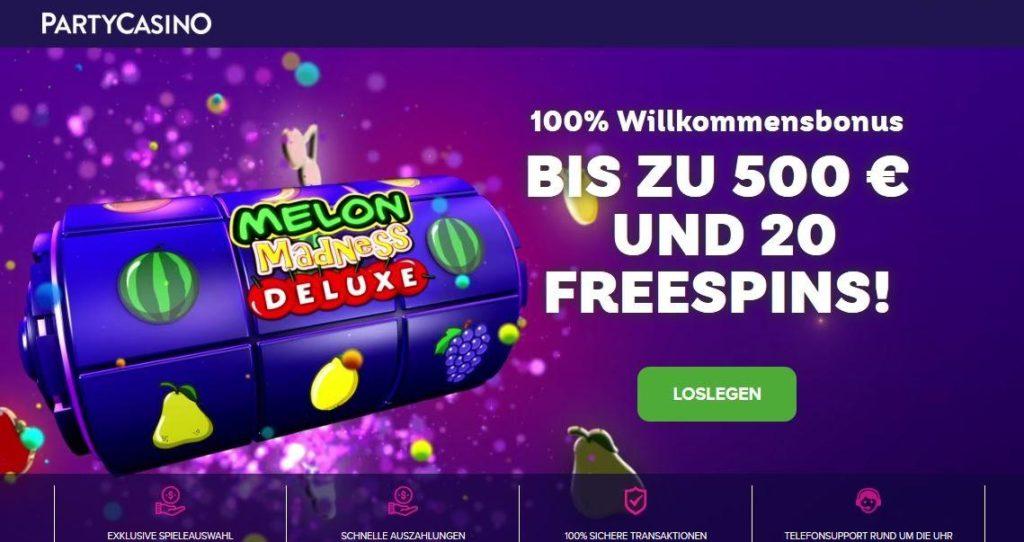 Party Casino Online Bonus