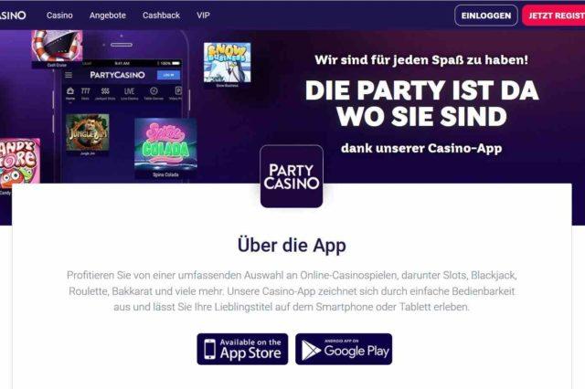 partycasino mobileapp