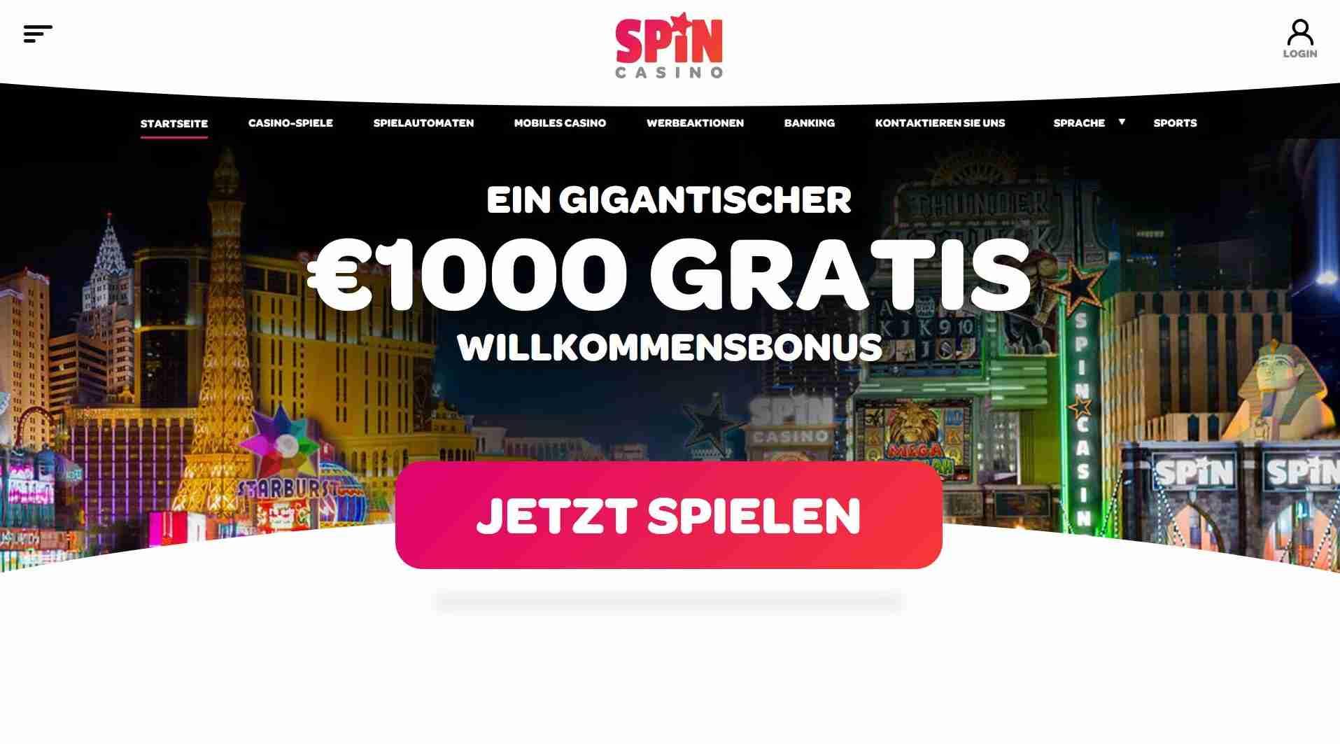 spin casino bonus