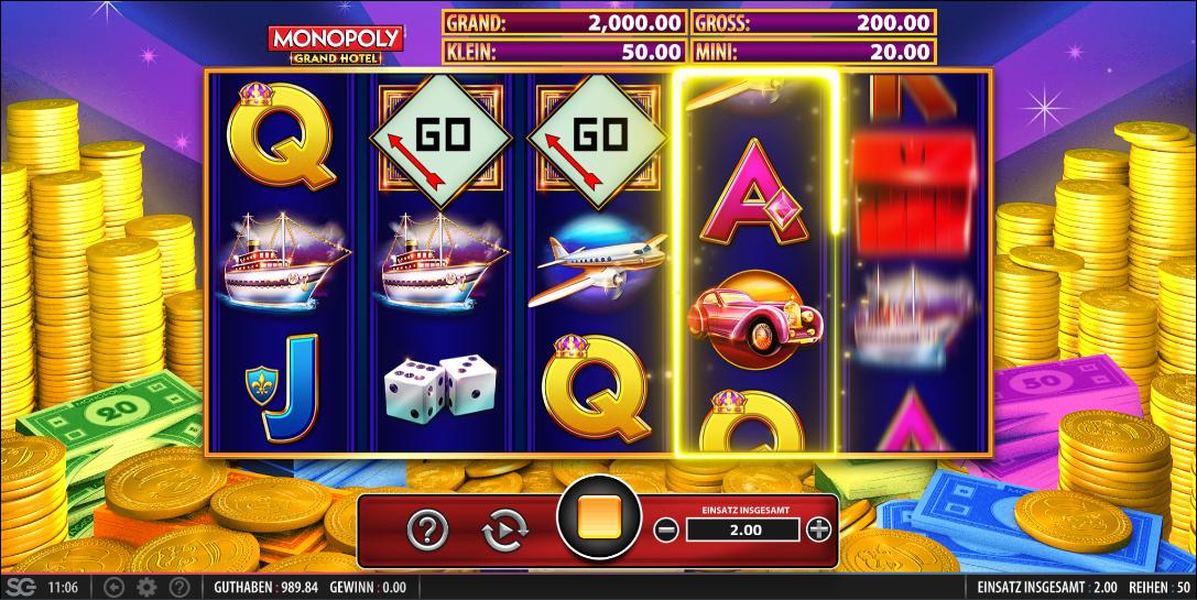 Monopoly Grand Hotel kostenlos testen