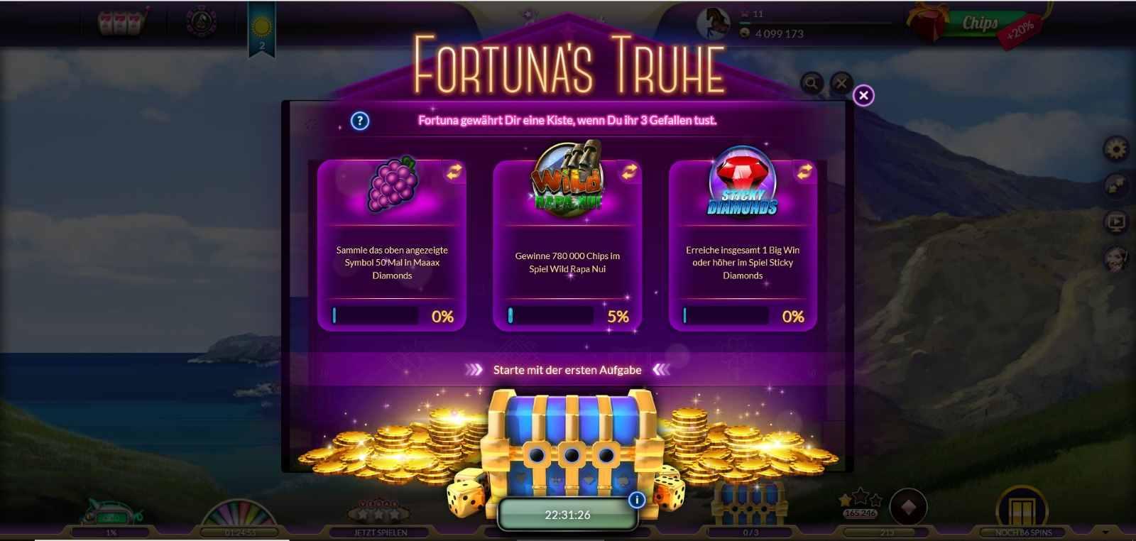 jackpot.de Fortunas Truhe