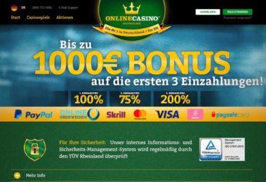 onlinecasino deutschland bonus