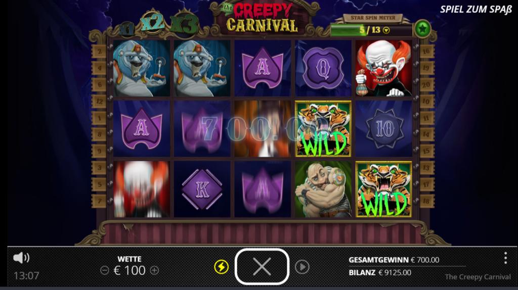Creepy Carnival Gewinn
