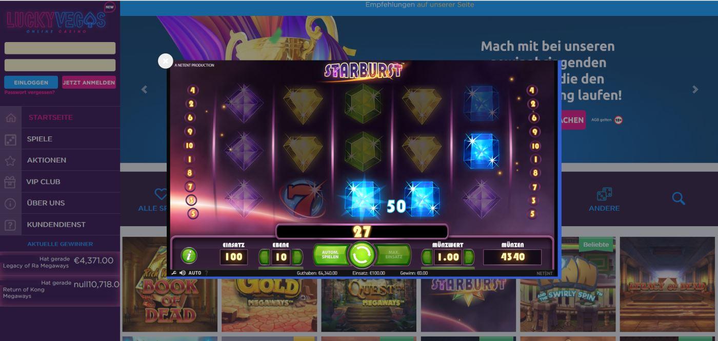Lucky Vegas Online Casino 1