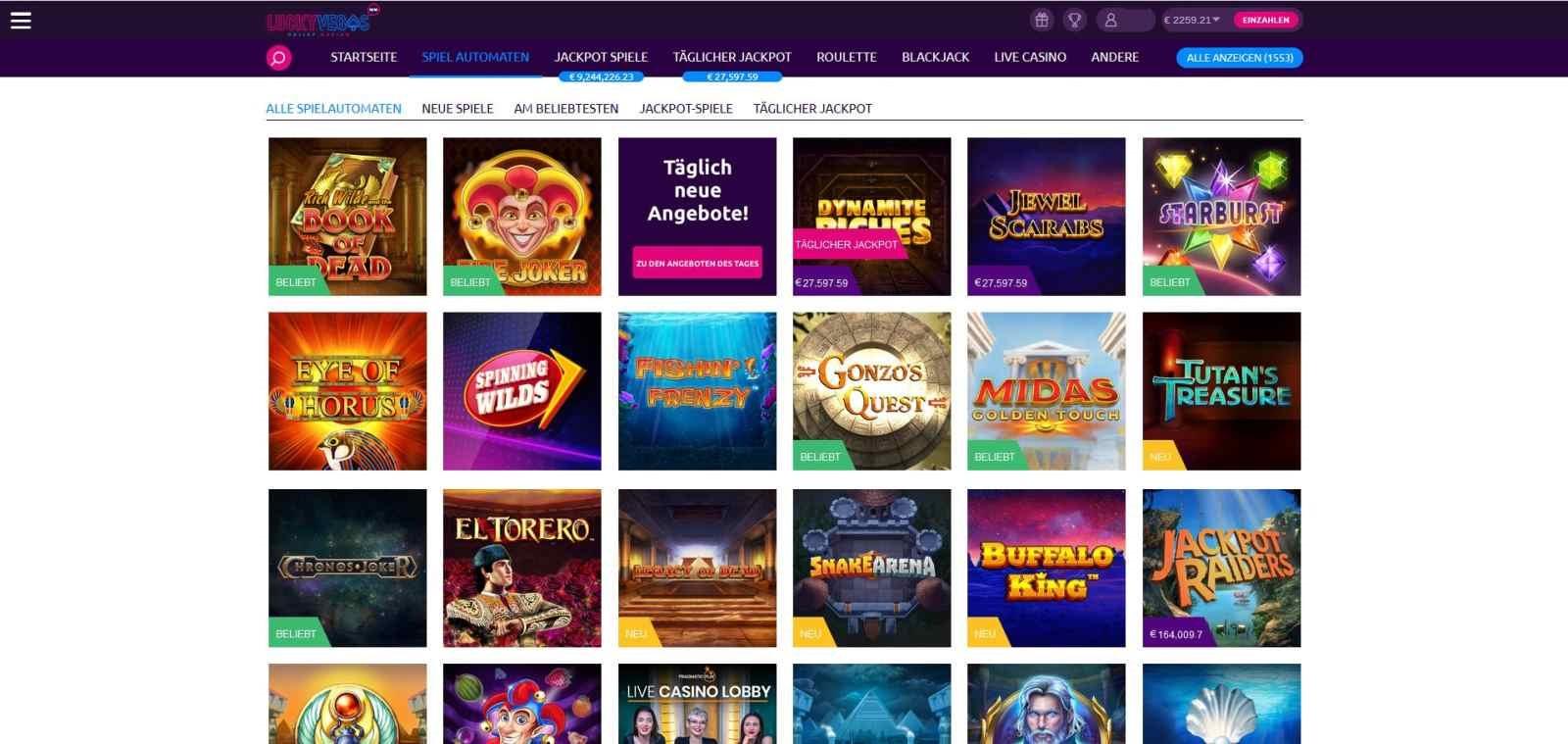 Spielautomaten LuckyVegas
