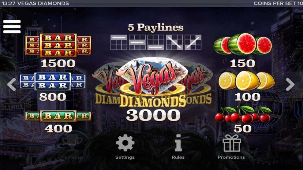 Vegas Diamonds kostenlos spielen 3