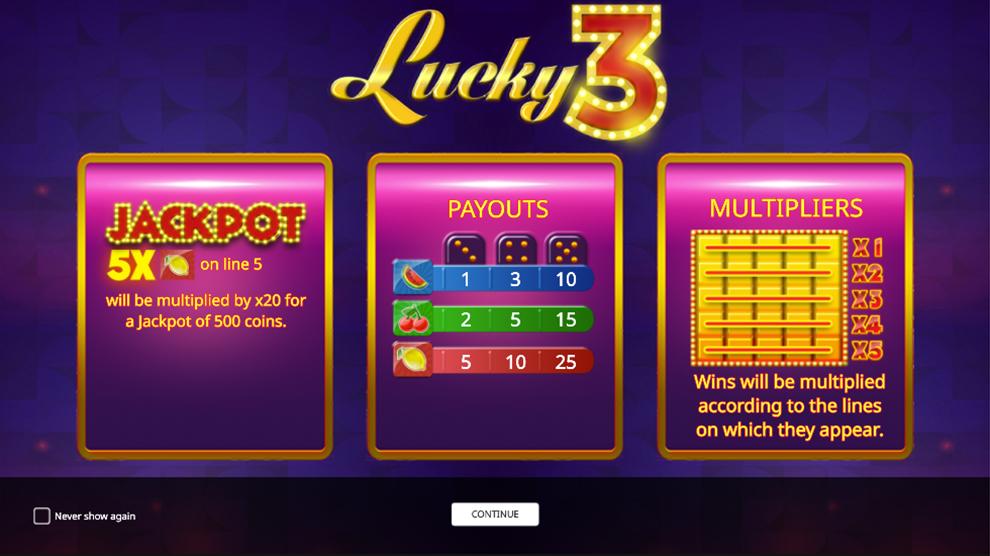Lucky3 kostenlos spielen 2