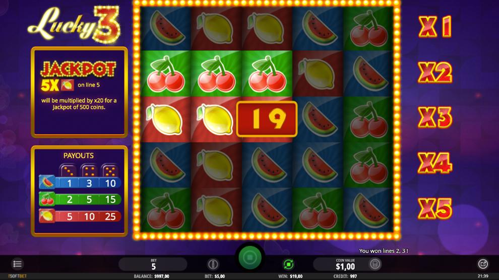 Lucky3 kostenlos spielen 3
