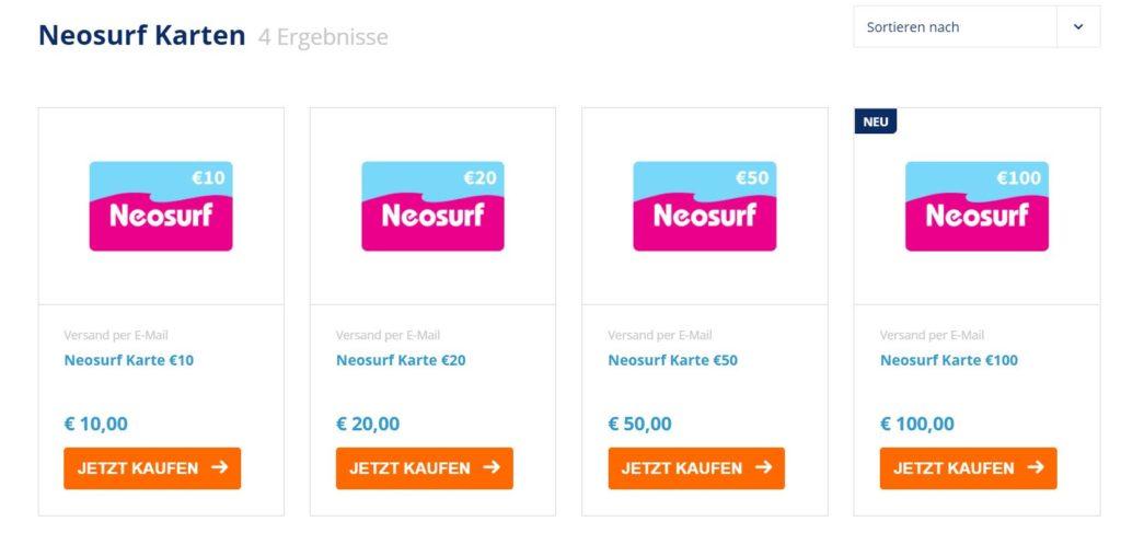 neosurf prepaid