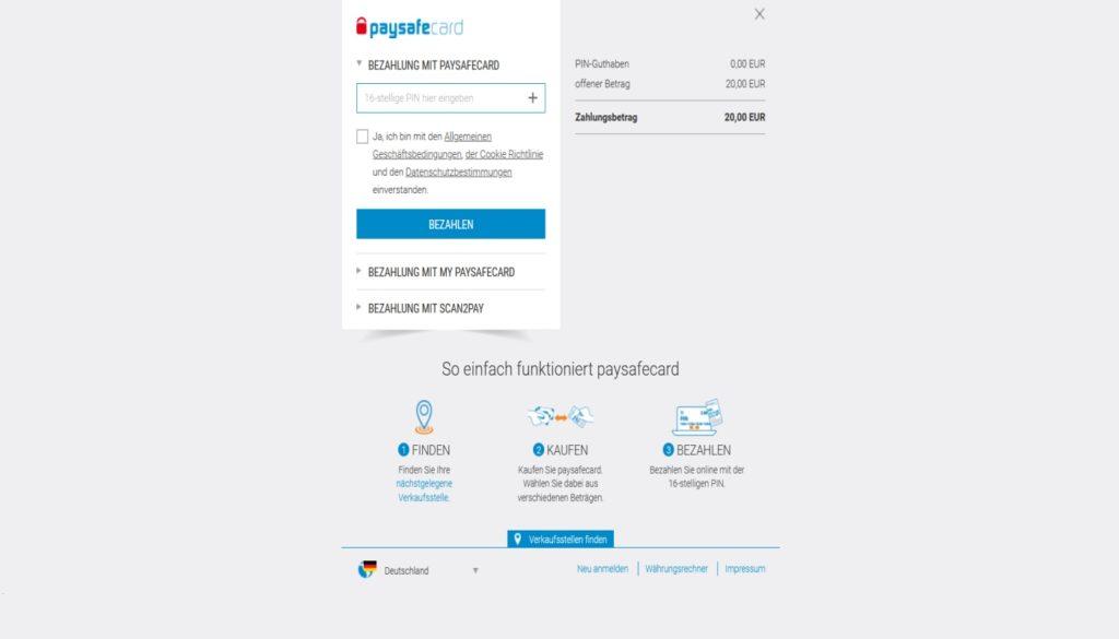Paysafecard in online Casinos 3