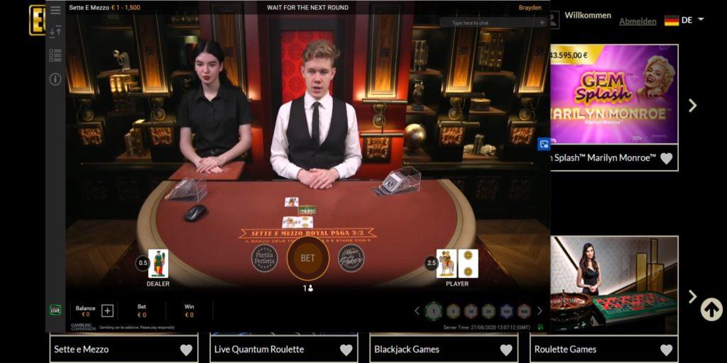 Eurogrand Casino Live-Spiele