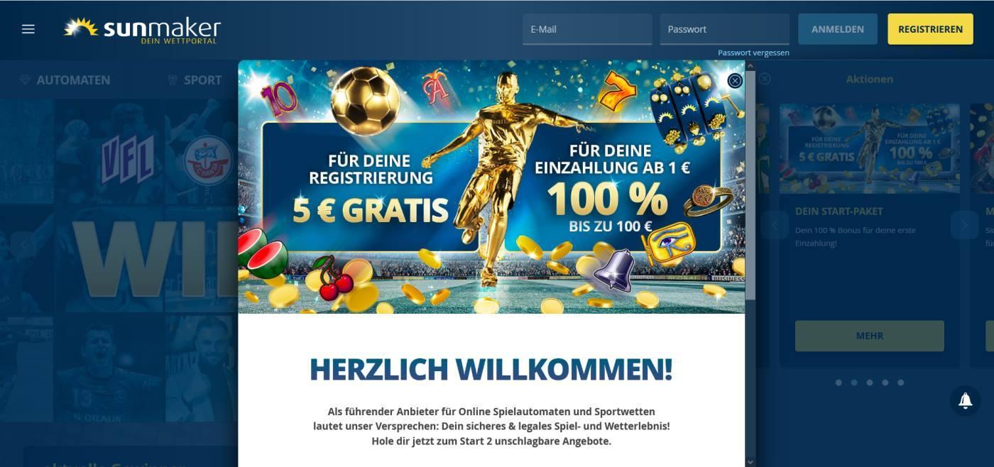 Sunmaker Spielgeld Casino