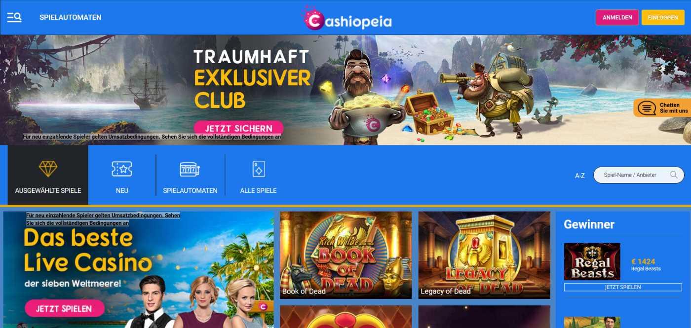 cashiopeia online casino